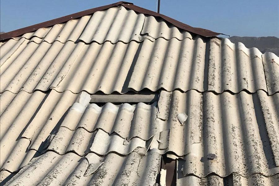 Gerepareerde daken